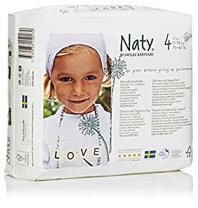 Naty by Nature Babycare Size 4 (7-18 kg or 15-40 lbs) Nappies , 27 Nappies