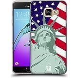 Head Case Designs Liberté Orgueil Américain Étui Coque en Gel molle pour Samsung Galaxy A3 (2016)