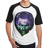 Art Design-JeffHardy Hommes Tee-Shirt Fitness T-Shirt Contraste(S,Noir)