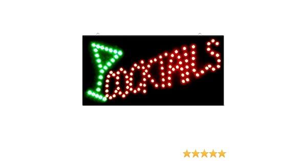 Sohler Cocktail Drinks Bar Pub Club Window Display Led Light Sign Lamp Home Restaurant Shop Disco Gift 48cm x 24cm