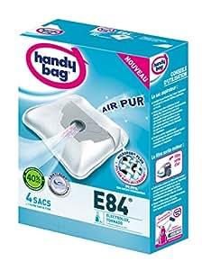 Handy Bag - E84 - 4 Sacs Aspirateurs, pour Aspirateurs Electrolux et Tornado, Fermeture Hermétique, Filtre Anti-Allergène, Filtre Moteur