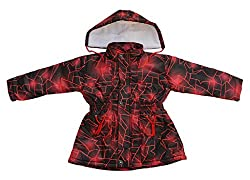 Fashion Addiction Girls Nylon Jacket (Red, 2-3 Years)