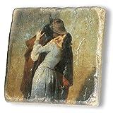 MANI REGALO - Quadro moderno - IL BACIO - Hayez Francesco - San Valentino - Regalo - Amore - Amanti - Coppia - I Love You - Love - Oggetti di Designer - Made in Italy.
