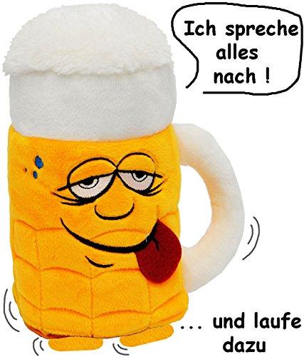 1 Stück _ Großer sprechender Bierkrug -  Ich Spreche Alles Nach & Laufe Dazu ..