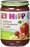 Hipp Erdbeere mit Himbeere in Apfel, 6er Pack (6 x 190 g)
