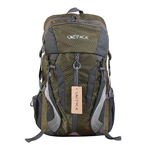 Grande zaino/50L/55L Outdoor borse borse da viaggio da uomo e da donna senderismo sac Etanche escursionismo arrampicata borsa grande borsa sportiva, 55L dark blue 40L Army green