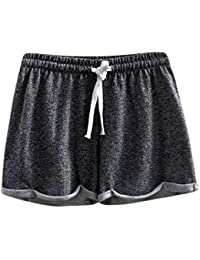 Cinnamou Pantalones Cortos de Las Mujeres Sólidas Color Shorts Causales Caseros Cortos Atractivos de los Pantalones Corta Gym Deporte de la Aptitud de Las para Niña de Playa