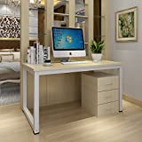 Panana Beige Computer Desk Home Office Furniture PC Table Study Workstation