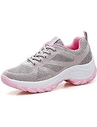 Classic Pink Donna Scarpe da Ginnastica Sportive Casual Fitness Sneakers  Jogging Sneakers da Corsa Zeppa Palestra fa6cff81330