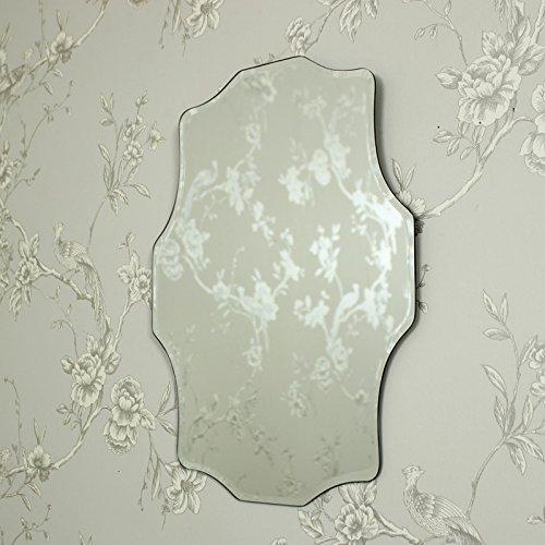 Vintage en forma de diseño biselado espejo de pared