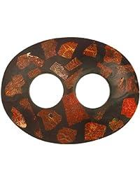 1World Sarongs Pareo carcasa diseño de piedra–Bridas Negro/Marrón