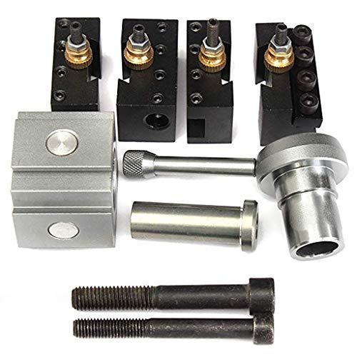 fang FANS S Metalldrehmaschinen Werkzeughalter Set 7 Stück Schnellwechsel Werkzeugsatz für Mini-Schnellwechsel-Werkzeugsatz für 7x10 7x12 7x14 Tisch-Drehmaschinen (7PC)