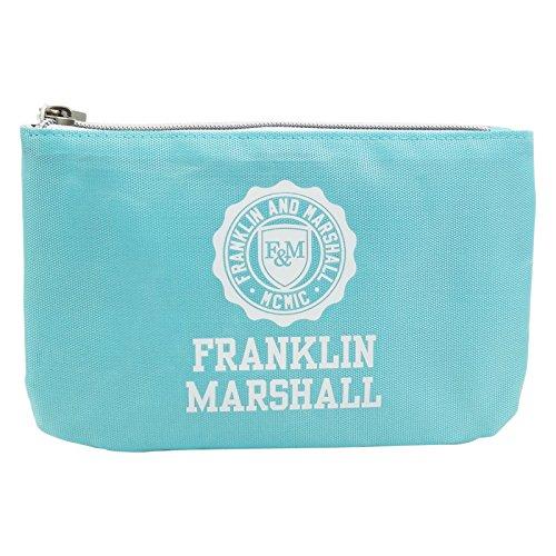 Franklin Marshall Feder Tasche Mit Power Bank Kosmetik Make-up Bag Aufbewahrungtasche Blau