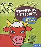 Image de J'apprends à dessiner Les animaux de la ferme + Avec un bloc de papier canson