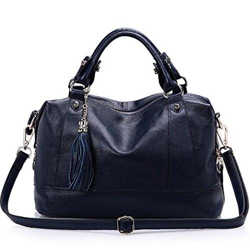 Frau Fransen Umhängetasche Leder Rindsleder Handtasche mit hoher Kapazität Messenger 1