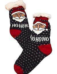 Sylar Calcetines Estampados Navidad Unisex Invierno Cachemira De Cordero Moda Populares Grueso Calcetines Cálido Suave Deportivo