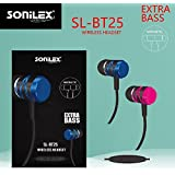 UNIq SONILEX Wireless Bluetooth Headset With Extra Bass With Magnetic Buckle – Long Lasting Battery – Black With Silver