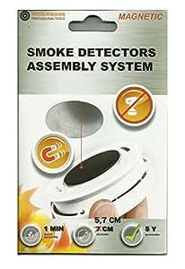 X1 Support aimant pour détecteur de fumée: Diamètre 5,7
