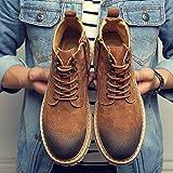 LOVDRAM Bottes Homme Martin Bottes Chaussures Hautes pour Hommes Bottes Courtes Bottes D'Étudiant Bottes d'hiver Housses pour Homme Coton Outillage Bottes en Coton, 39, Jaune du Désert