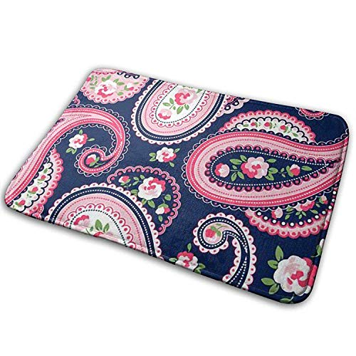 rutschfeste dekorative Garten-Büro-Badezimmer-Tür-Matte Indoor Outdoor Welcome Doormat Paisley Pattern Rug Floor Mats for Entry, Shoe Rugs -