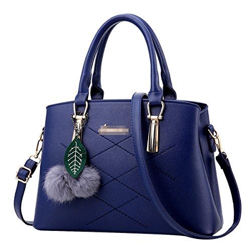 Frauen Top Griff Schulranzen Handtaschen Taschen Handtasche Multicolor Blue