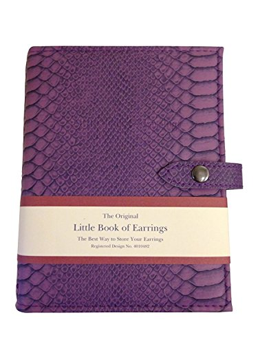 Little Book of Earrings - Large Size - Mock Croc Purple