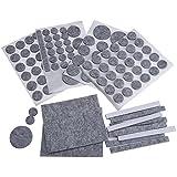 Mudder Muebles de Fieltros, Almohadillas de Protección para Silla y Piso, Gris (132 Piezas)