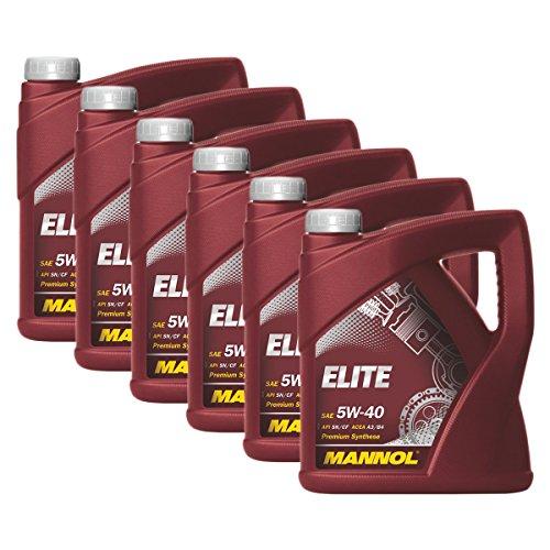 Preisvergleich Produktbild 6x MANNOL MN7903-4 Elite 5W-40 Motoröl MB