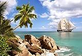 Unbekannt 1500 Teile Puzzle Seiling in Paradise SEGELSCHIFF SCHIFF KARIBIK MEER - Traumreise Traumstrand Palme weißer Strand