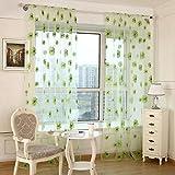 Gowind6 Vorhang Wohnzimmer Sonnenblume Tür Fenster Vorhang grün