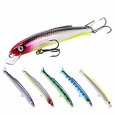 SeaKnight Minnow Fishing Lures Topwater Floating Sea Fishing Lures For Bass,Pike by SeaKnight