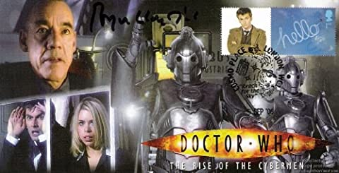 Timbres Doctor Who Coque du temps Cybermen'signé Roger Lloyd Lot