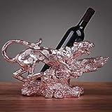 Yarmy Weinregal Europäische kreative Geld Ornamente Weinschrank Vitrine Display Weinflasche Regal Home Bar Dekoratio