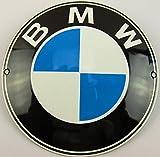 Neues Emaille Schild BMW 12cm Rund, Classic Werbeschild Reklameschild 50er Jahre Life Style Retro Fifties