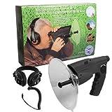 Parabol Abhöranlage Spion mit Kopfhörer Richtmikrofon McVoice Zieloptik Abhörtechnik Hörgeschädigte ~ 90m 23852