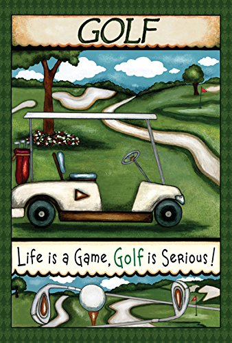 Toland Home Garden Going Golfing, 71,1 x 101,6 cm, dekorativer Spaß, Sport, Outdoor, Golfplatz, Tee, Club, Spiel Haus Flagge -