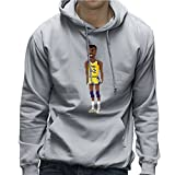 Magic Johnson LA Lakers NBA Pixel Men's Hooded Sweatshirt
