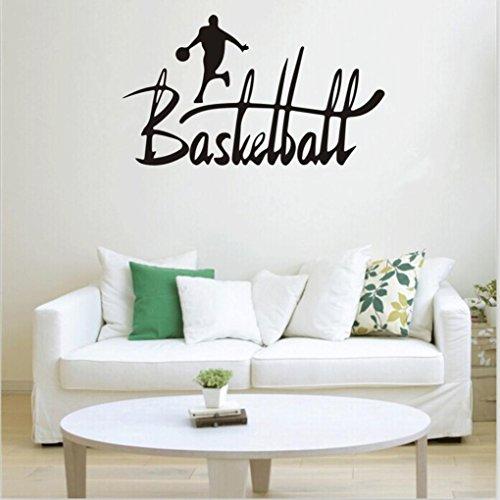 Preisvergleich Produktbild Saingace Basketball-Sport-abnehmbare Wand-Aufkleber Raum-Wandabziehbild-Ausgangsdekor-Vinyl Art Wandaufkleber Wandtattoo Wandsticker