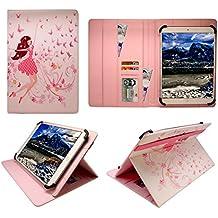 Wind Tab 10 Tablet PC 10.1 Inch Ragazza Felice Universale Rotazione PU Pelle Custodia Case Cover ( 10 - 11 Pollici ) di Sweet Tech