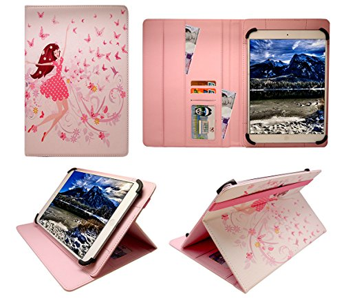 tablet onda 10 pollici Sweet Tech Onda oBook 20 Plus Tablet 10.1 inch Ragazza Felice Universale Rotazione PU Pelle Custodia Case Cover (10-11 Pollici