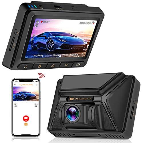 Oasser Autokamera Dashcam Car DVR Video Recorder FHD 2880x2160P 170 ° Weitwinkel mit GPS und WiFi Funktionen Verpackung MEHRWEG Mini-board-kamera