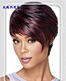 Hair Extensions & Wigs 1b/99j Short Bob Lace Front Wig With Baby Hair Brazilian Straight Hair Remy Ombre Human Hair Wigs Pre Plucked Bleached Knots Lace Front Wigs