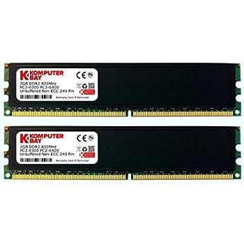Komputerbay J37 Arbeitsspeicher 4GB (2x 2GB) DDR2 800MHz, PC2-6300, 240-polig) DIMM mit Heatspreader