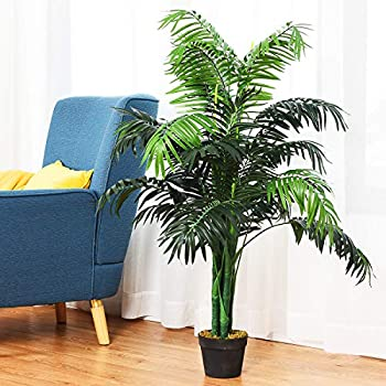 Best Artificial 120cm / 4ft Areca Palm Tree Tropical Office