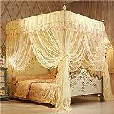 AIHOME Mückennetz für Doppelbett, Mückennetz Bett, Baldachin Bett, Fliegennetz Kinderbett Rechteckiger Netzvorhang, Betthimmel Vorhang, Insektenschutz, Camping Netz