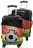 Stylekiste - Kofferset Fußball Design Germany Deutschland Polycarbonat Reisekoffer Set 2tlg mit 4 Rollen Leicht & Stabil