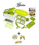 14-tlg. Genius Nicer Dicer Gemüseschneider Küchenhobel Kiwi