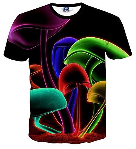 Pizoff Männer T-Shirt kurze Ärmel stereoskopische 3D-kühlen Spaß Hip-Hop-Mode- Unisex-Tops