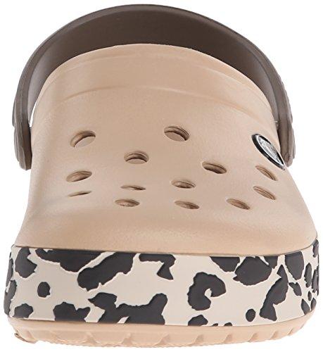crocs Unisex-Erwachsene Cblprdclg Clogs, Schwarz (Black 001) Gold (Gold/Black Leopard)