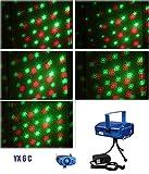6 in 1 LED Laser Lichteffekte Bühnenlicht Licht Disco Bühnenbeleuchtung Party Lichteffekt Lampe Projektor GX6 (C)